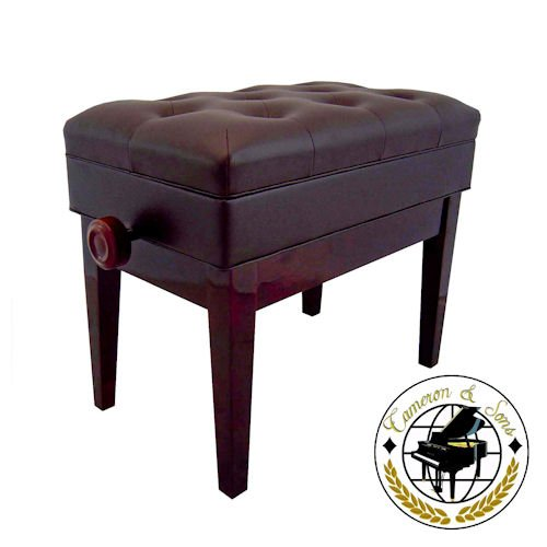 Cameron & Sons CS-12 MAHP Adjustable Piano Bench Mahogany with Storage Artist Padded (Cs 12 compare prices)