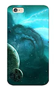 HaoodWu1975lzSlC Tpu Case Skin Protector For Iphone 6 Planets Near The Turquoise Nebula With Nice Appearance For Lovers Gifts