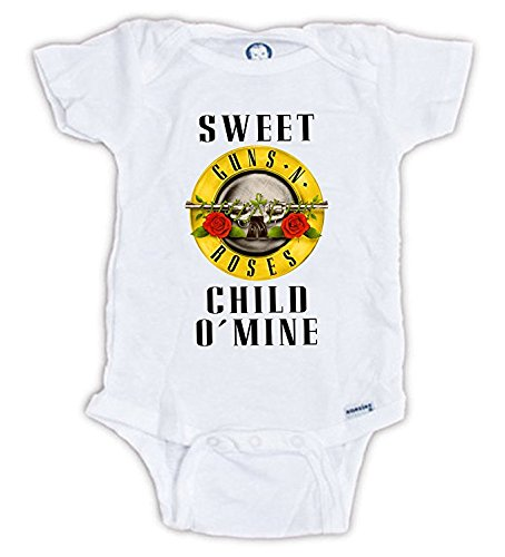 Sweet Child Of Mine Onesie, Guns N' Roses Baby Onesie, Guns N' Roses Sweet Child O'Mine Onesie, Guns N' Roses Baby Shirt, Baby Shower Gift (3-6 Months)