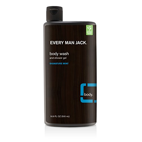 Every Man Jack Body Wash, Signature Mint, 16.9 Fluid Ounce (Mint Gel Signature)