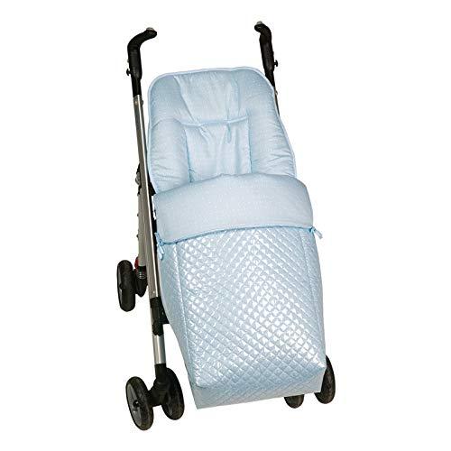 Saco silla paseo universal AZUL plastificado IMPERMEABLE para evitar frios. Desmontable en colchoneta y cubrepies. Vá lido para los diferentes coches del mercado. Bebelovers, Koketes, Mobibe