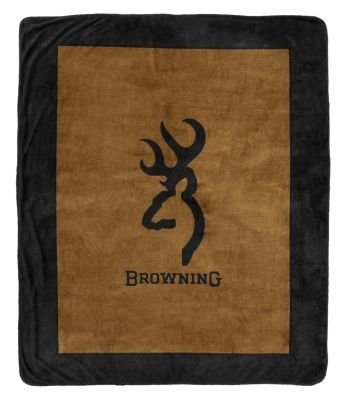 Browning Buckmark Throw Blanket 50x60 Inches