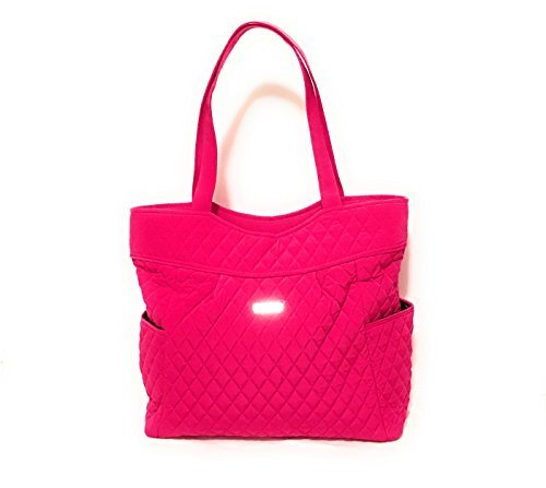 Vera Bradley Pleated Tote Zip Top Bag Fuchsia