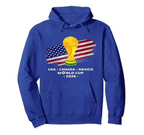 Unisex America 2026 Football Soccer World Team Cup Flag Medium Royal Blue