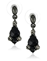 1928 Jewelry Vintage Crystal Drop Earrings