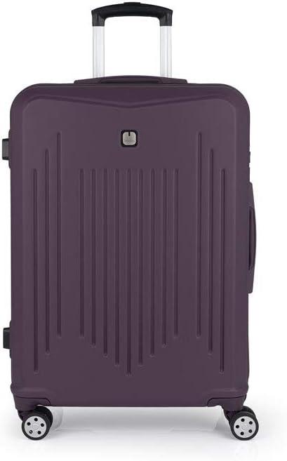 Gabol - Clever | Maletas de Viaje Grandes Rigidas de 53 x 76 x 30 cm con Capacidad para 100 L de Color Morado