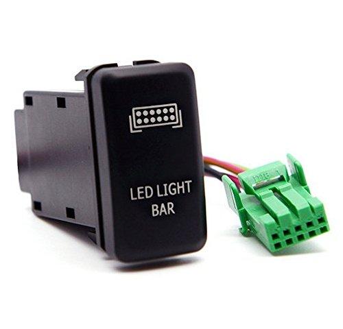 Toyota Press Button LED Light Bar Switch BLUE LED
