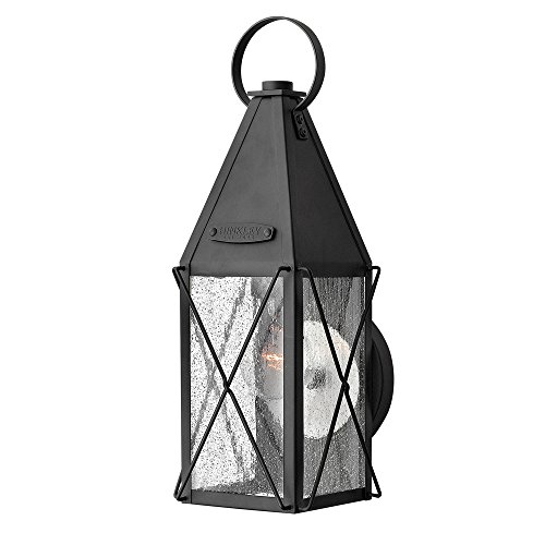 Hinkley 1840BK Traditional One Light Wall Mount from York collection in Blackfinish,