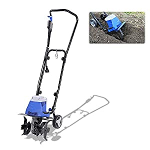 1250W Electric Tiller, Garden Soil Cultivator/Rotavator with 4 Metal Blades Safety Switch for Lawn, Vegetable Patch…