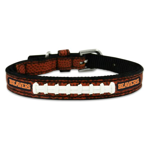NCAA Oregon State Beavers Classic Leather Football Collar, Toy