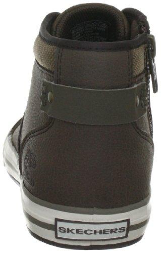 Skechers PlanfixEffective 93690L BLK - Zapatillas de cuero para niño Marrón