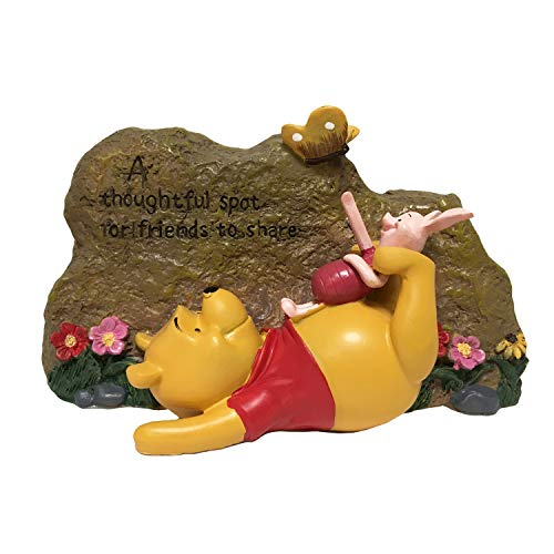 (Pooh Garden Rock, Classic Winnie-The-Pooh Collection, Hand-Painted, Stands 5 Inches Tall by 7.5 Inches Wide.Official Disney Licensed)