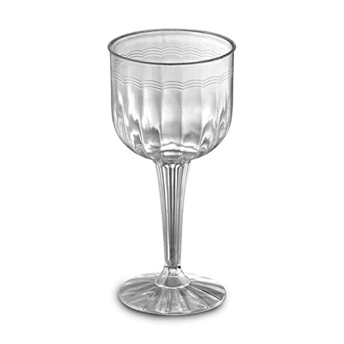 1 Piece 8 oz Plastic Wine Goblets - Case of 96