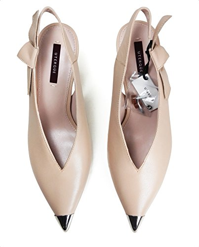 Uterque Women Slingback shoes with metal toe detail 4041/351 (38 EU | 7.5 US | 5 UK) by Uterque (Image #3)
