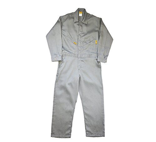 - Lapco FR GOCLW6GY-34-TL Flame Resistant Light Weight Deluxe Coveralls, Tall, Grey
