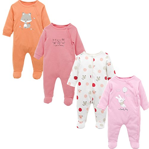 Baby Clothing Clothes Roupas Bebes Long Sleeve Cotton Footies 0-12 Months Infant Vetement Bebe -