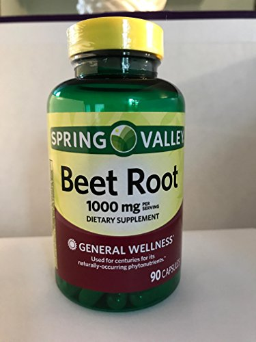 Spring Valley Beet Root 1000mg dietary supplement 90 capsules For Sale