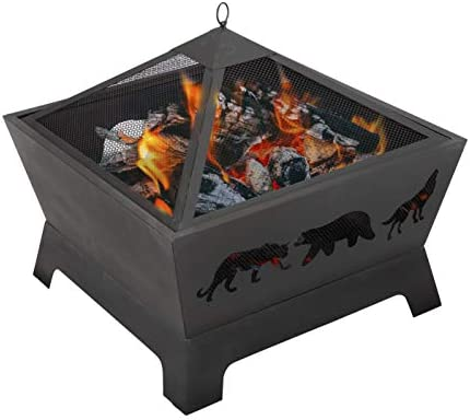 ZENY 26 inch Outdoor Fire Pit Wood Burning Fireplace Patio Firepit Bowl Stove