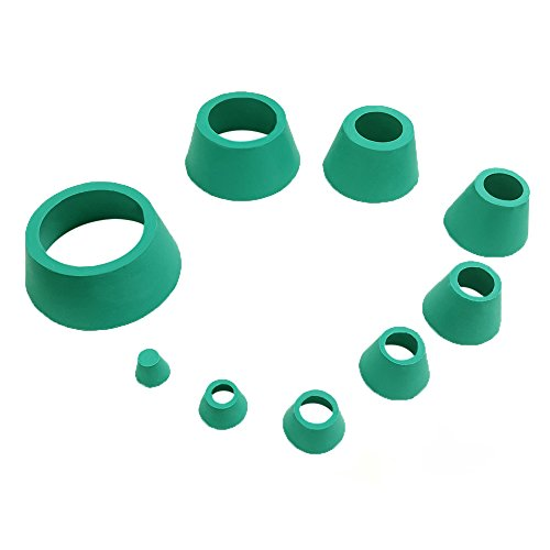feiyang Buchner Funnel Flask Adapter Set,Tapered Collar Green 8 Sizes