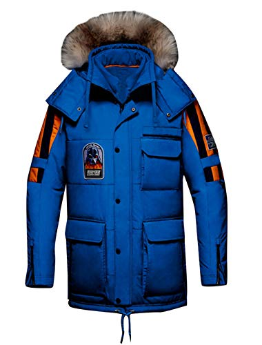 III-Fashions Star The Empire Frozen Tundra Crew Strikes Back Parka Wars Removable Hood Blue Cotton Bomber Jacket