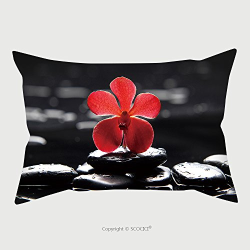 Custom Microfiber Pillowcase Protector Reflection Of Red Orchid With Green Fern 65956375 Pillow Case Covers Decorative