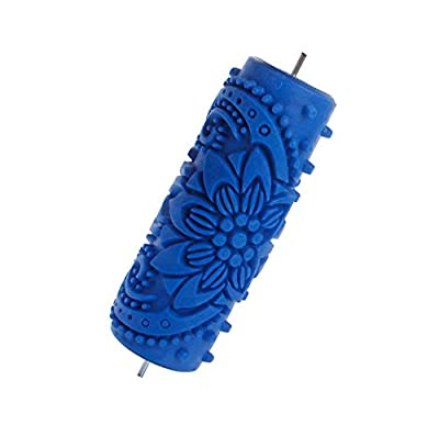 Flower Embossed Painting Roller Wallpaper Tool for DIY Wall Decoration 15cm