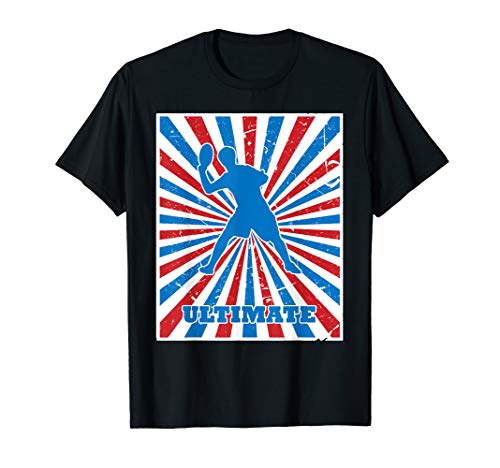 Vintage Ultimate Tosser Red White Blue Stripes Sunburst T-Shirt