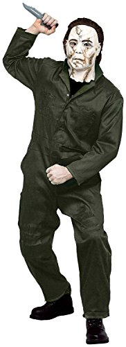 [Paper Magic Men's Rob Zombie Halloween Adult Michael Myers Coveralls And Mask,Blue,Small] (Rob Zombie Halloween Masks)