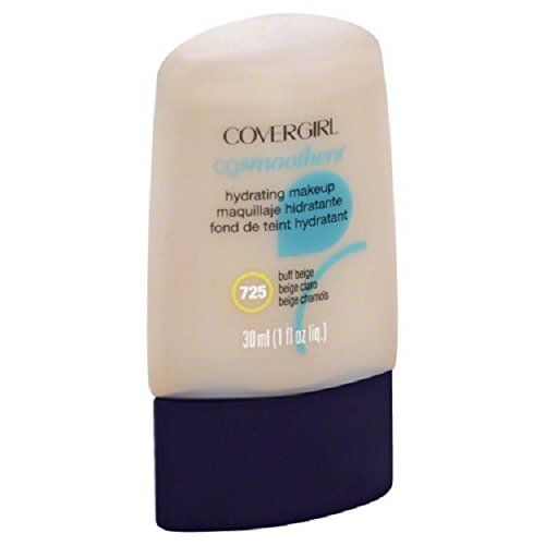 CoverGirl Smoother Liquid Makeup - Buff Beige #725 (Pack of 2) Cover Girl Smoothers Liquid Makeup
