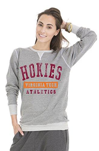 Venley NCAA Virginia Tech Hokies Colby Tri-Blend Crew Neck Sweatshirt, Small, (Automatic Pullover Hoody Sweatshirt)