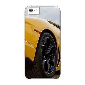 MuS229wAMP Tpu Phone Case With Fashionable Look For Iphone 5c - Yellow Lamborghini
