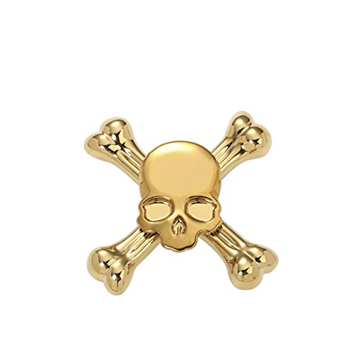 Starss Skull Fidget Spinner with Ultra Stainless Steel Bearing 3-5Min Spins Time the Best Halloween Gift