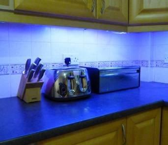 Led Für Küche   Ossun Blau Led Kuche Unter Schrank Beleuchtung Set 4 X 50 Cm Led