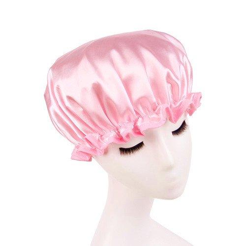 Shintop Shower Cap Adult Resizable Waterproof Double Layer Environmental Bath Hat EVA Hat Satin Bonnets