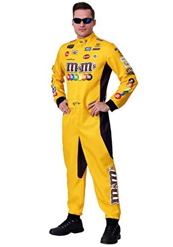 NASCAR Kyle Busch Plus Size Uniform Costume 2X Yellow -