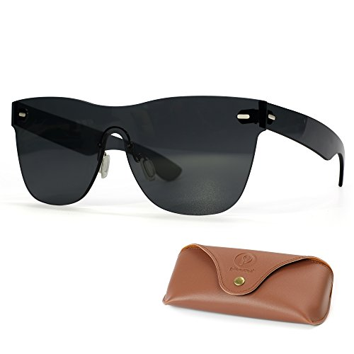 Picador Rimless Retro Sunglasses for Unisex Matte - Backpacking Sunglasses