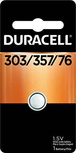 Duracell – 303/357/76 1.5V Silver Oxide Button Battery – long-lasting battery – 1 count