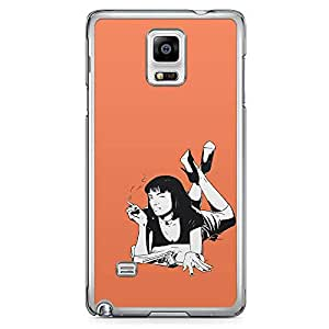Loud Universe Pulp Fiction Samsung Note 4 Case Mia Wallace Pulp Retro Samsung Note 4 Cover with Transparent Edges