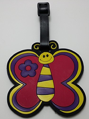 Cute Purple Butterfly Luggage Tag