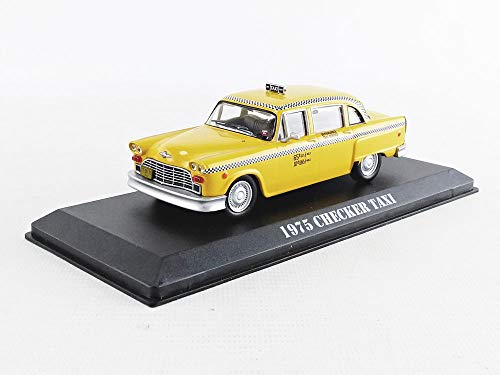 Travis Bickle's 1975 Checker Taxicab - Taxi Driver (1976), Authentic Movie Decoration, Chrome Accents, Real Rubber Tires, True-to-Scale Detail, Limited Edition ()