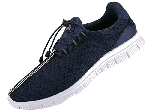 Juan Women's Running Shoes Fashion Breathable Sneakers Mesh Soft Sole Casual Athletic Lightweight (38 M EU/7.5 B(M)US, Blue)