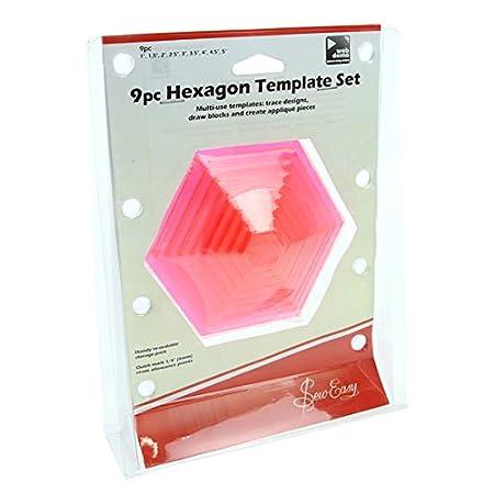 9 pieces hexagon templates set amazon co uk kitchen home