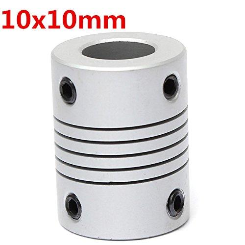 EsportsMJJ 10mm X 10mm Aluminium Flexible Wellenkupplung Od19mm X L25mm CNC Schrittmotor Kupplung Steckverbinder