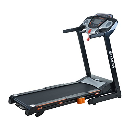 Shayin Folding Treadmill Electric Motorized Fitness Treadmill Running Jogging Machine with Incline for Home