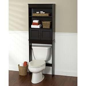 amazoncom brown storage bathroom furniture home u0026 kitchen