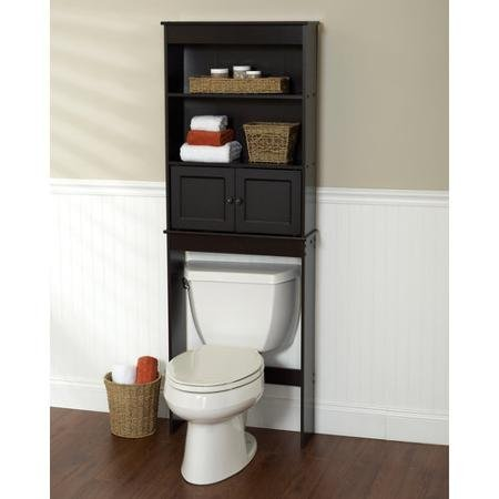 Freestanding Espresso Space Saver Bathroom Shelf, Black by Zenith Products Espresso Space Saver