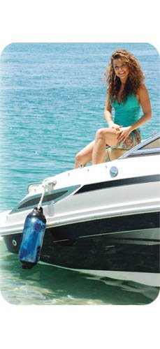 Blue Swirl Taylor Made Products 967622 Super Gard Inflatable Vinyl Boat Fender 6.5 x 22 inch