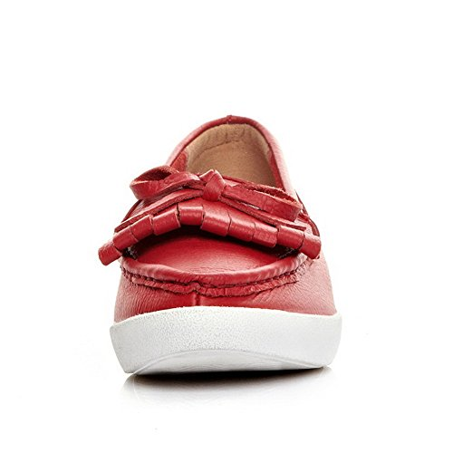 Low Womens AmoonyFashion Pinker Heels Toe With and Closed Solid Pointed Red Winkle Pumps Toe Shoes rHqXdqF