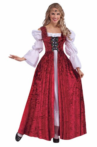 Forum Novelties Women's Medieval Lace-Up Costume Gown, Red, Standard