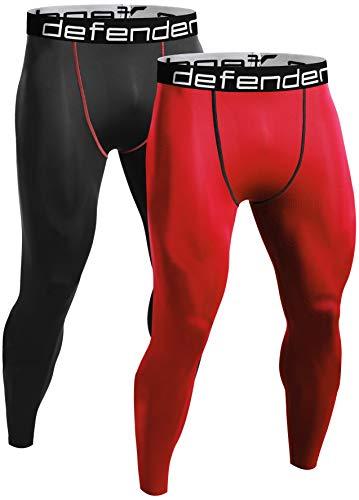 Defender Men's 2Pack Sports Compression Pants Under Jerseys Tights Shorts Fits Basketball BRRE_M